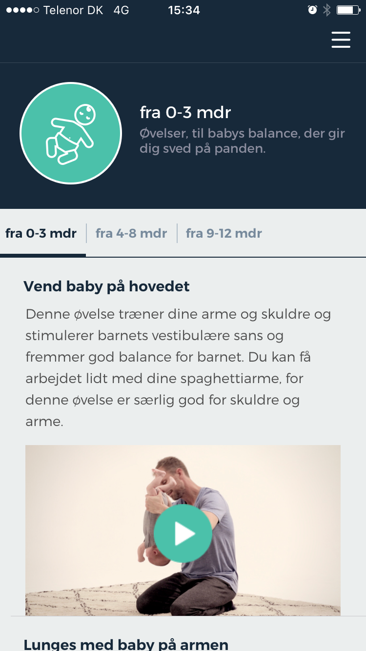 Dad app - 3 apps from the danish health authority