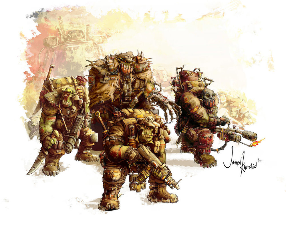 Ork Kommandos by Musibat Khan