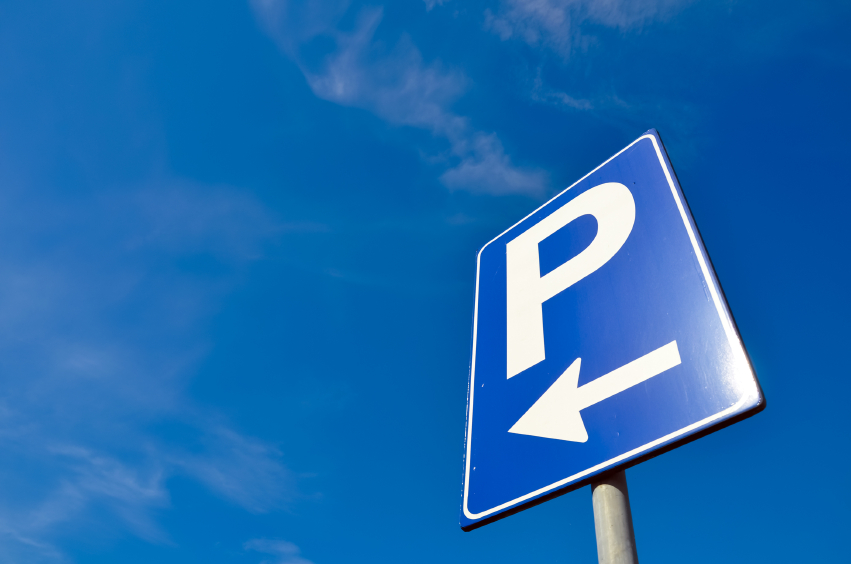 Parking signal over a blue sky.jpg