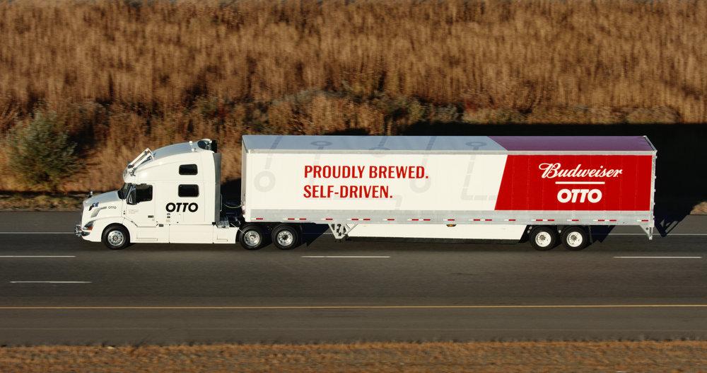 Anheuser-Busch Otto driverless truck