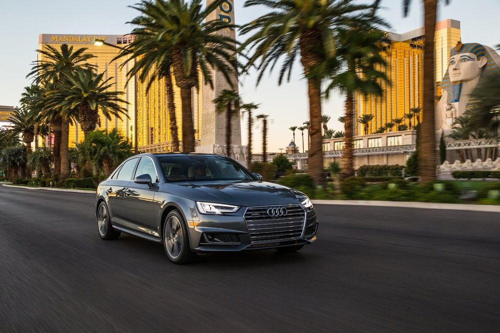 Audi equipped with Traffic Light Information service driving in Las Vegas