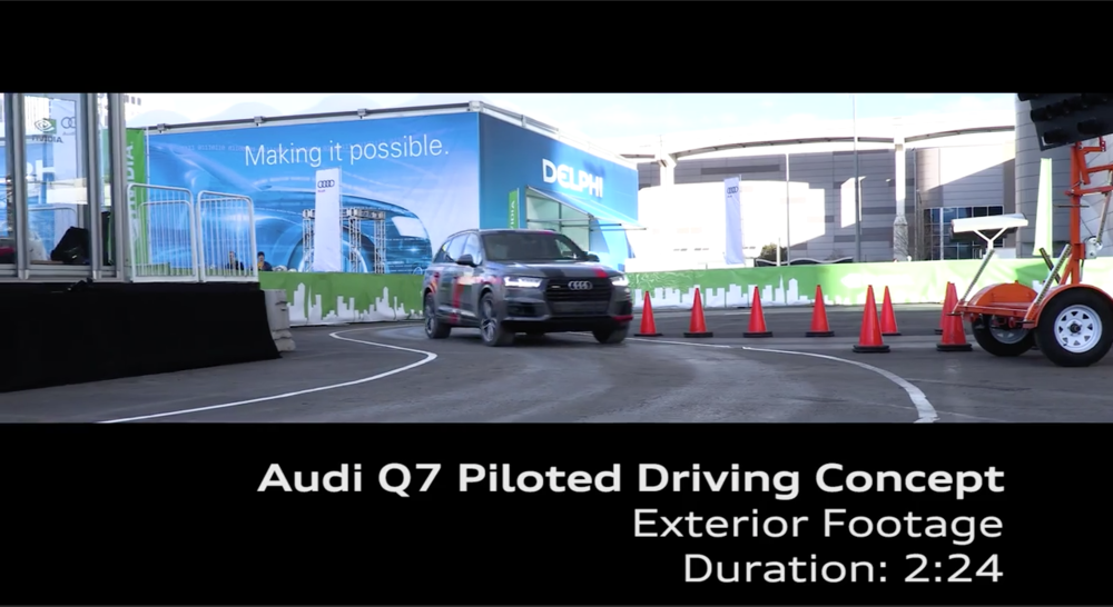 Click on the image above to watch a video of Audi's Q7 Piloted Driving Concept car in action at CES 2017