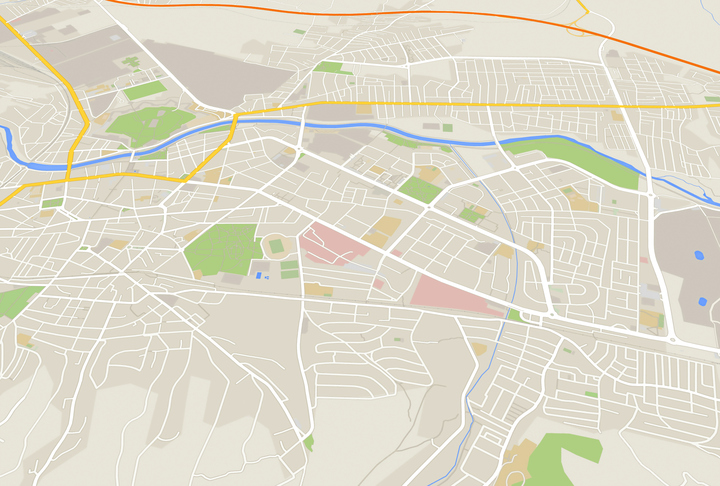 Image of City map 3d rendering