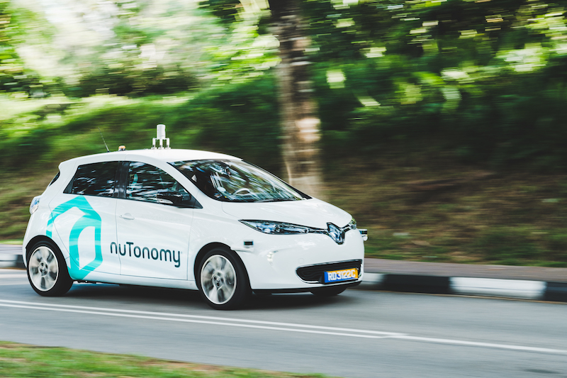 A nuTonomy self-driving car on the road (image credit: nuTonomy)