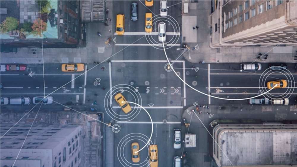 Connected vehicles from above [image credit: intel]