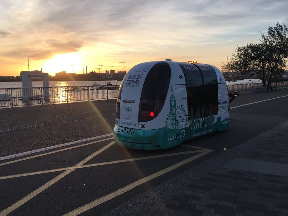 Gateway project driverless shuttle (image courtesy of TRL)