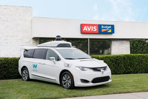 Avis Budget Group to offer fleet support and maintenance services for Waymo's self-driving car program at Avis Car Rental and Budget Car Rental locations. (Source: Avis Budget Group)