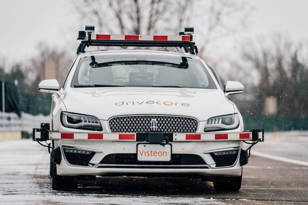 Visteon corporation conducting autonomous driving tests at the american center for mobility