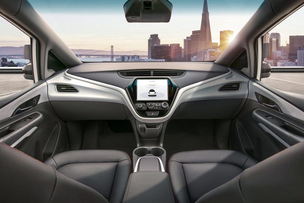The Cruise AV is designed to operate safely on its own, with no driver, steering wheel, pedals or other manual controls when it goes on the road in 2019. (Image courtesy of GM)