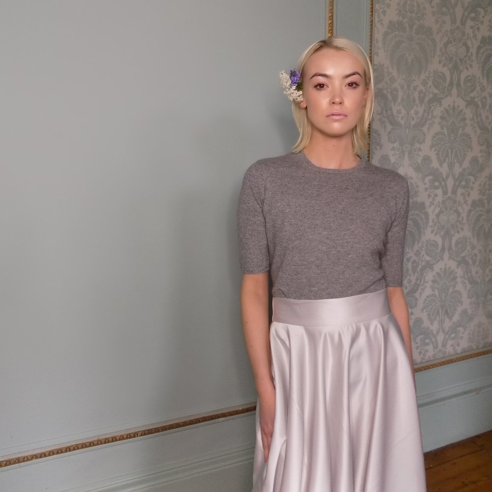 Carolyn Baxter Circle Skirt £130. Cross Cashmere T-Shirt £260.