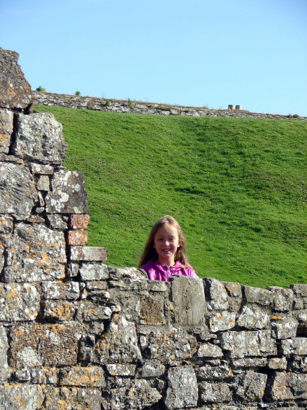 My granddaughter, Erika, on our trip to Ireland. Erika inspired my book Imagination Lost.