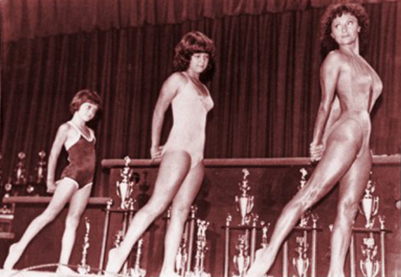 Doris barrilleaux and granddaughters guest posing in 1980