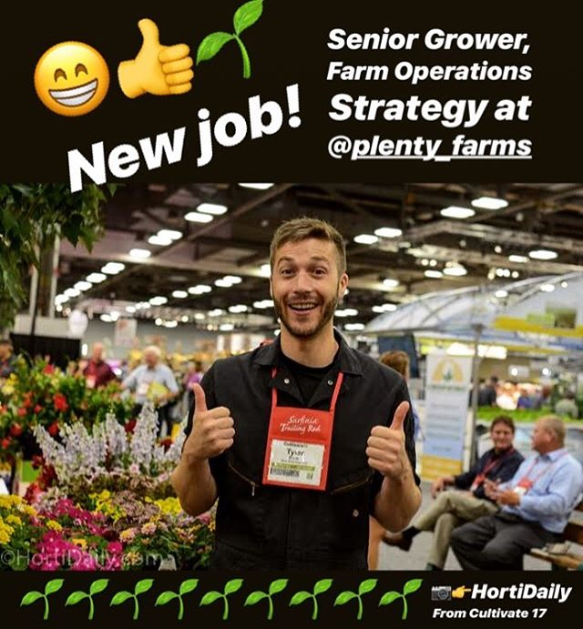 So excited to join the awesome team at @plenty_farms 😁! Can't wait to get growing! 👍🌱