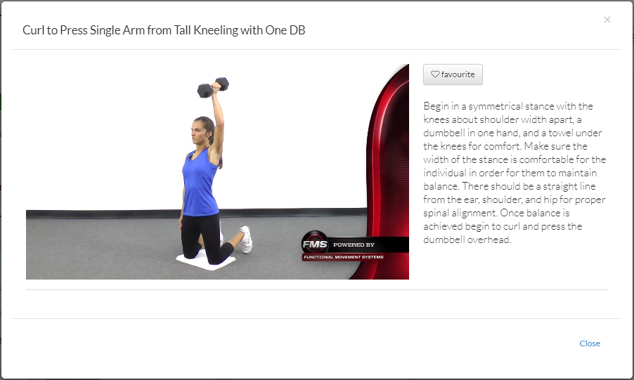 All exercises have their own video tutorial.