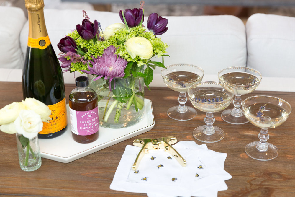 It's always a nice gesture to offer champagne or prosecco when hosting a celebration.  I like to keep mine ready to go on a nearby buffet table or barcart. Keep your Viski Style Champagne Puller on-hand to make opening a bottle a breeze!
