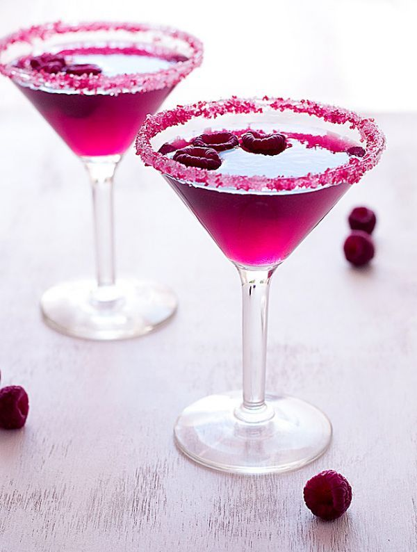 Very Pink Raspberry Cosmopolitan via Liquor.com