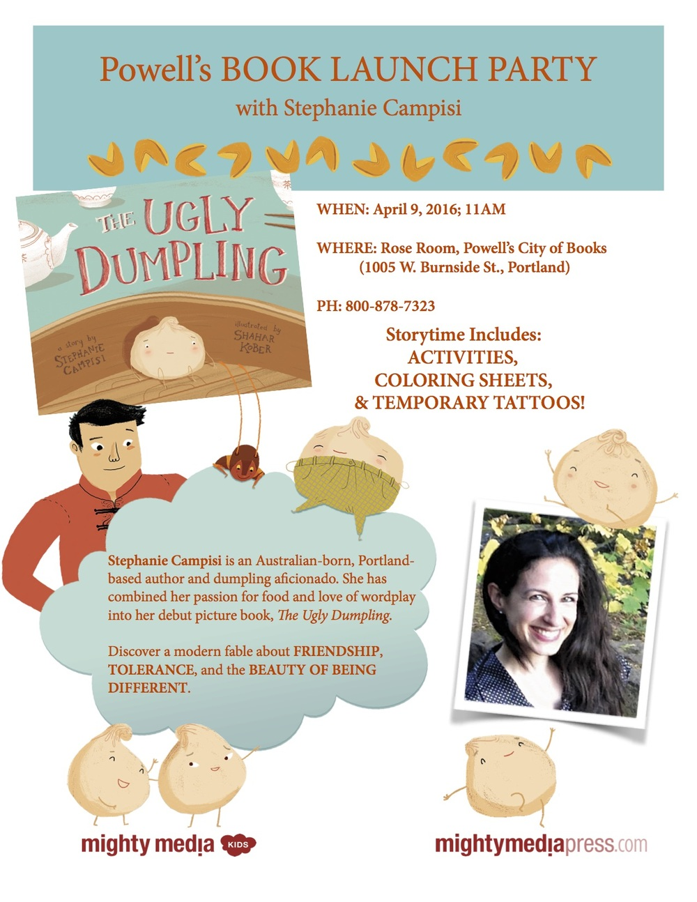 Ugly Dumpling book launch