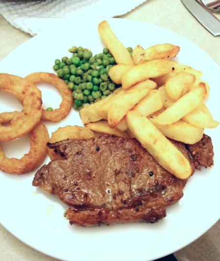 Superpeach Wales blog steak dinner