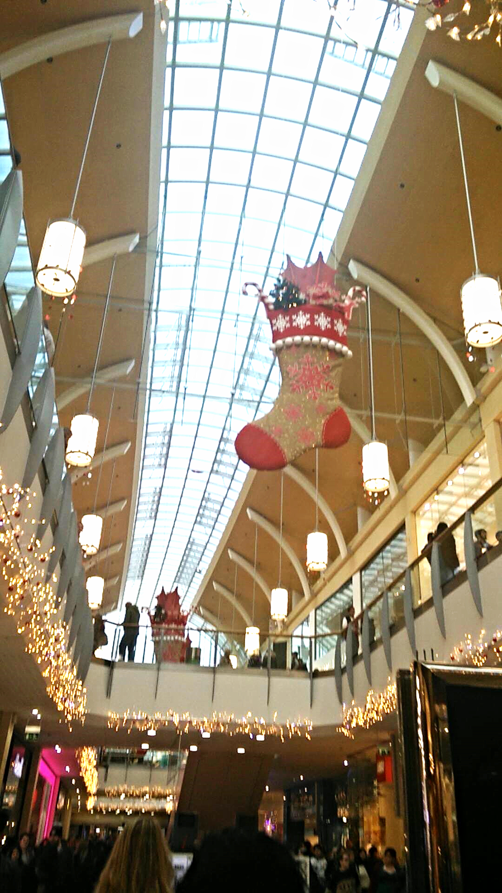 Superpeach Wales blog St David's Shopping Centre Christmas decorations