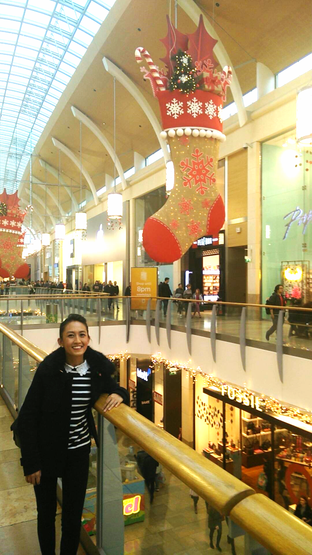 Superpeach Wales blog St. David's Shopping Centre Christmas decorations and me