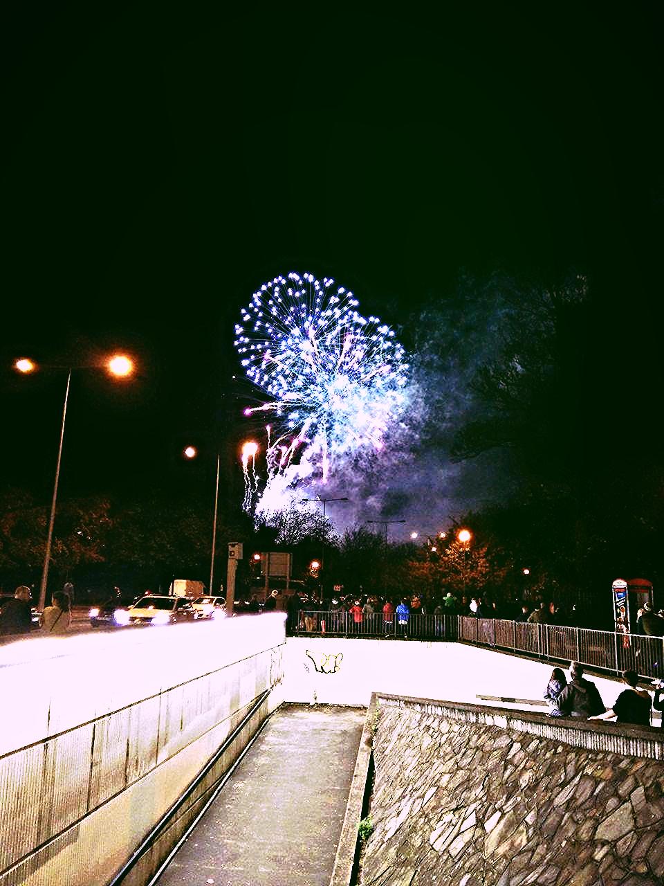 Superpeach Wales blog fireworks display 1