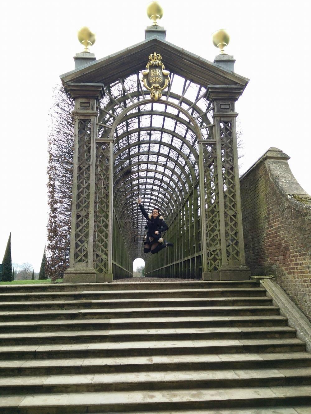 Superpeach blog Hampton Court vineyard jump