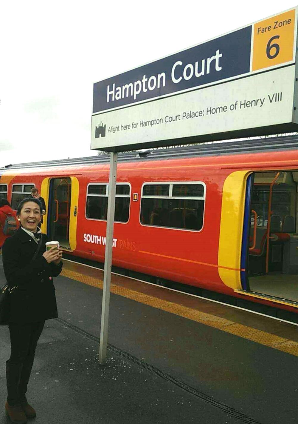 Superpeach blog Hampton Court train station