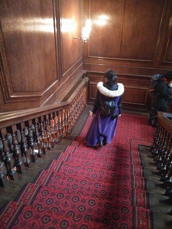 Superpeach blog Hampton Court Remi stairs
