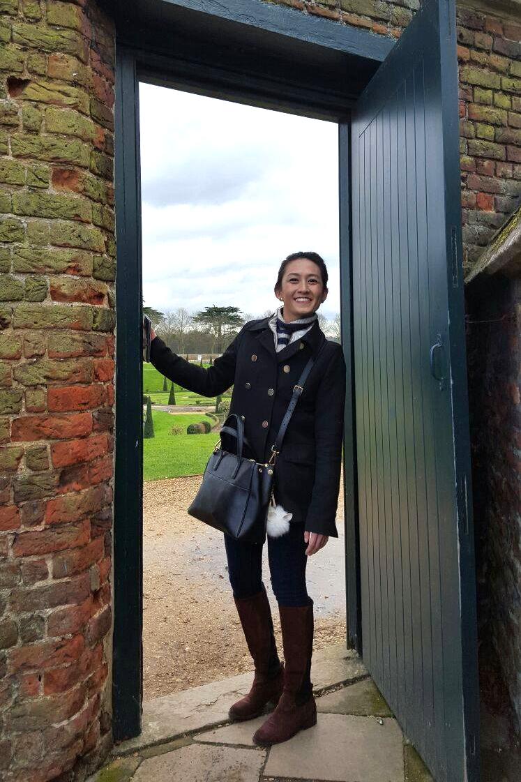 Superpeach blog Hampton Court garden door