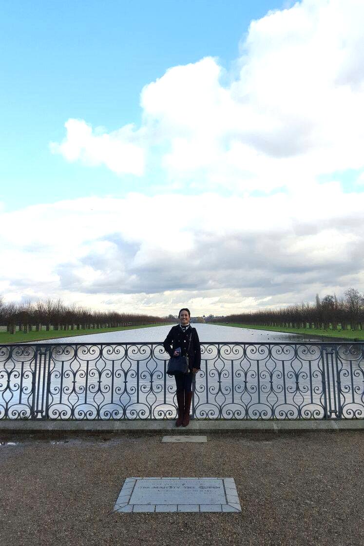 Superpeach blog Hampton Court infinity pond
