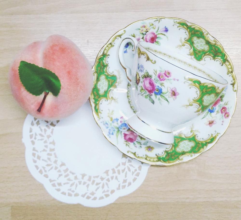 Superpeach fun facts blog - peach and cup