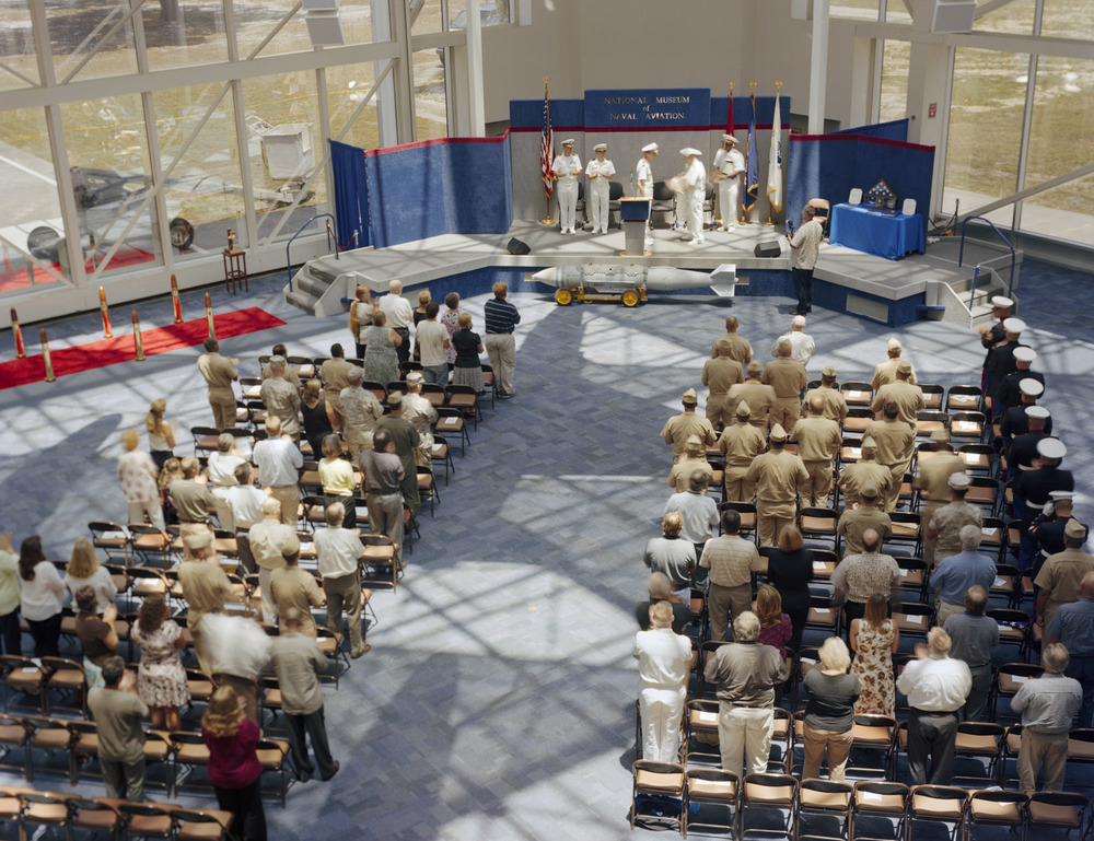 "Retirement Ceremony, National Aviation Museum, Pensacola, FL,  2008, Pigment print, 30"" x 40"""