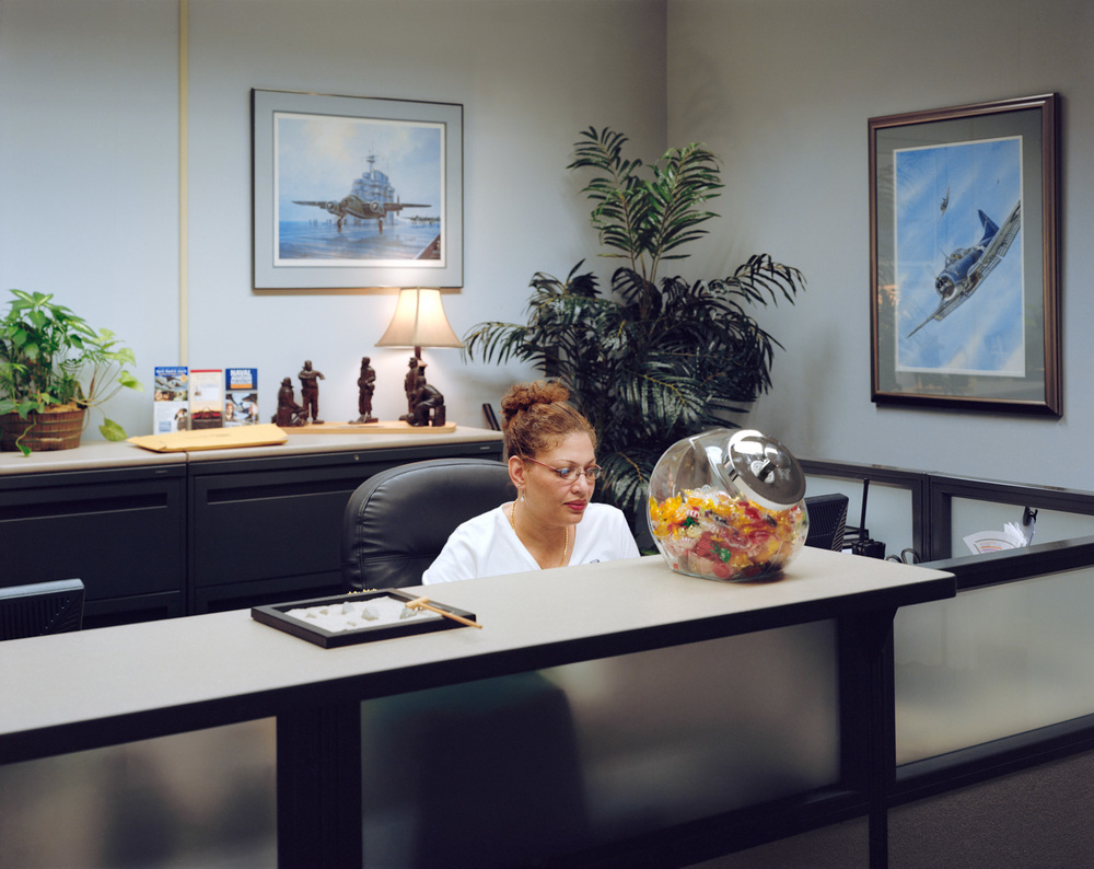 "Receptionist, National Aviation Museum, Pensacola, FL , 2008, Pigment print, 20"" x 30"""