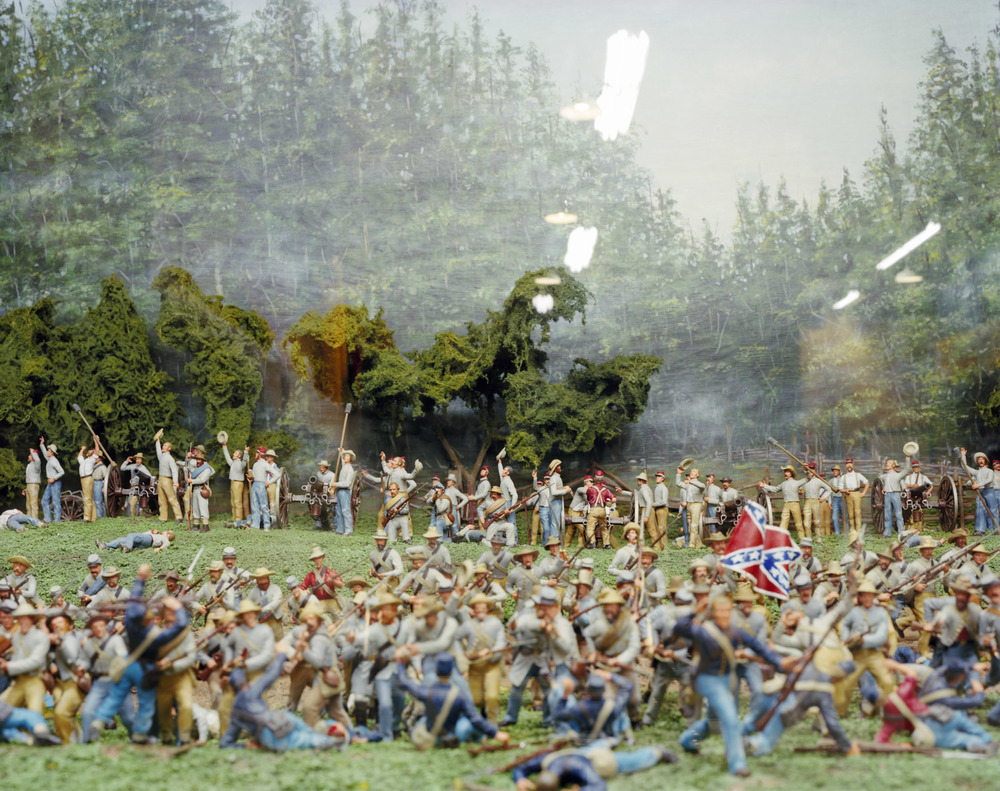"Battle of the Wilderness, 1864, Military Forces Museum, Austin, TX , 2008, Pigment print, 20"" x 30"""