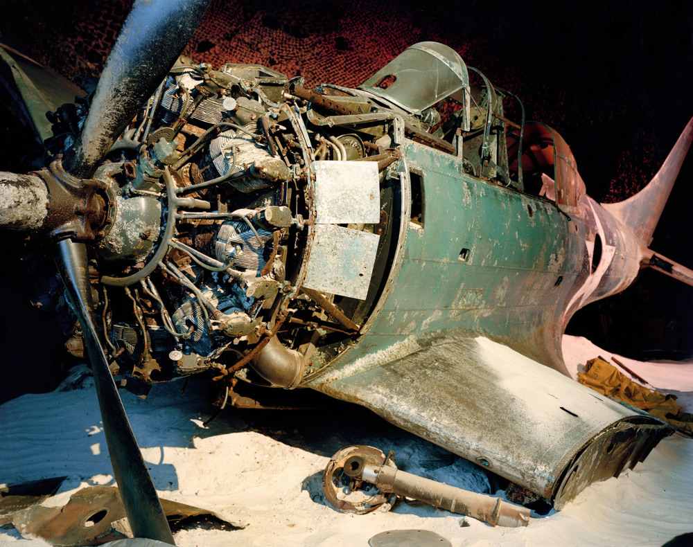 "Fighter Plane Underwater, National Aviation Museum, Pensacola, FL , 2008, Pigment print, 30"" x 40"""