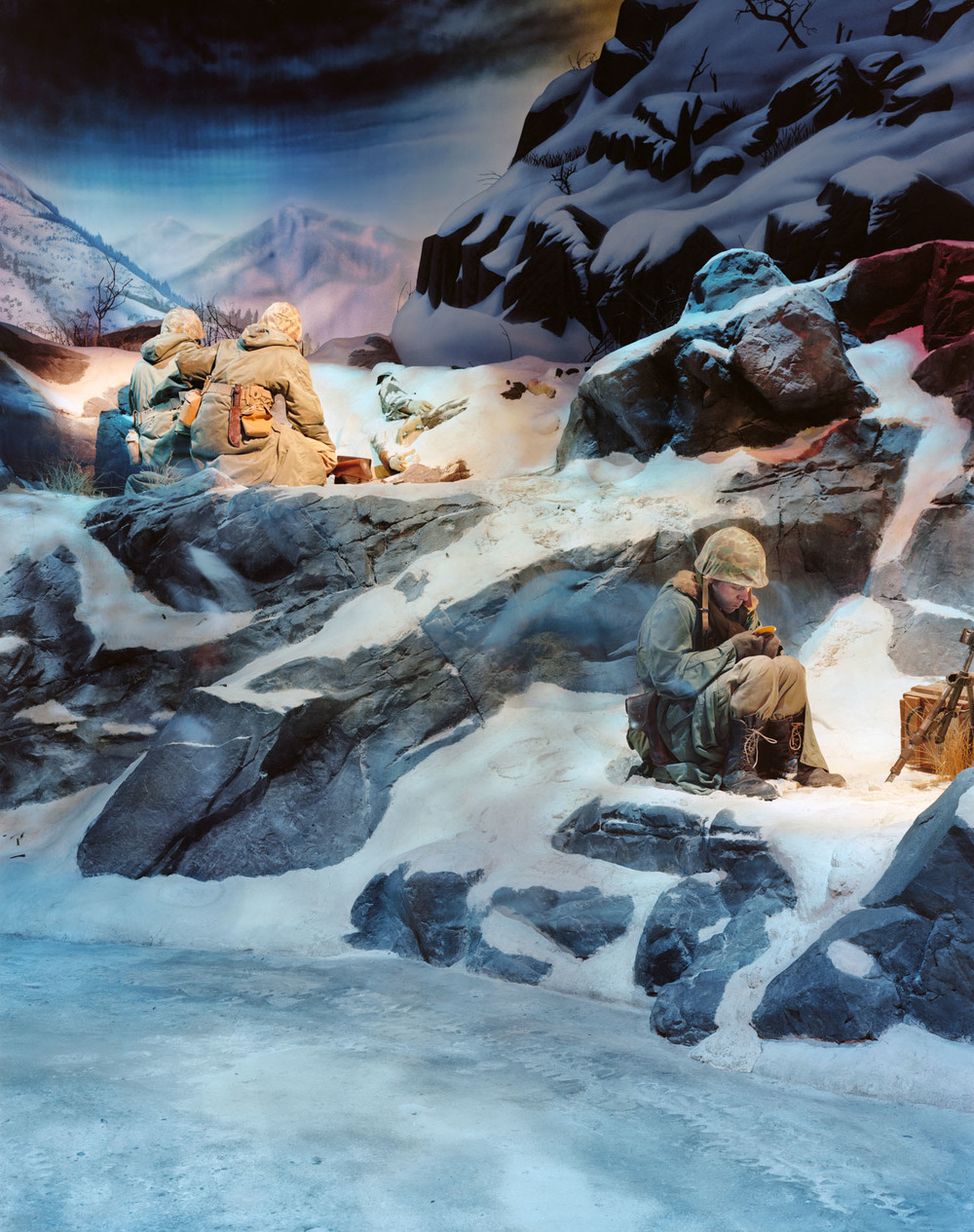 """Frozen Chosin"" (Changjin), Korean War, National Museum of the Marine Corps, Quantico, VA , 2009, Pigment print, 40"" x 30"""