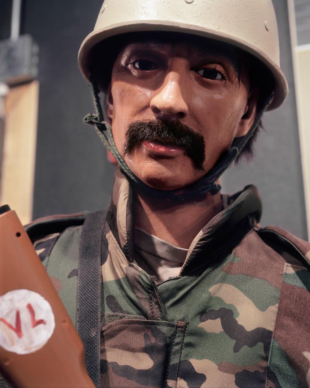 """Iraqi Policeman, Fort Hood, TX , 2008, Pigment print, 40"""" x 30"""""""