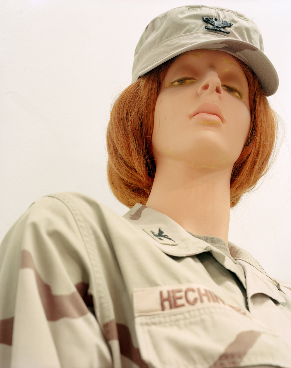 "Female Soldier, Military Forces Museum, Austin, TX , 2008, Pigment print, 40"" x 30"""