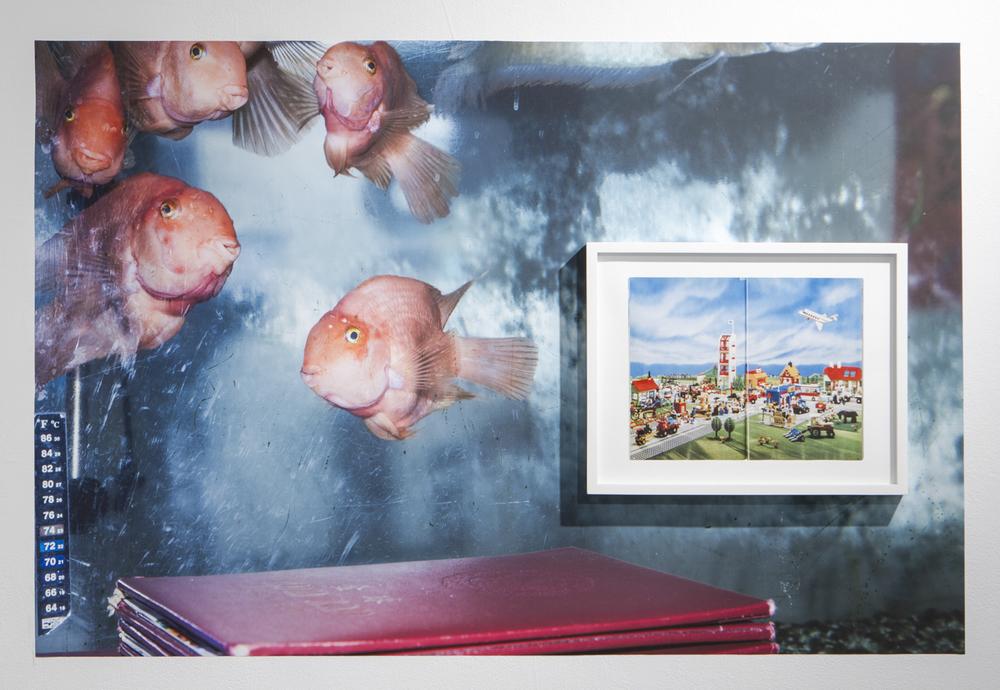 Kum Kau Legoland  2014/15 Vinyl, pigment print, frame 30 x 40 inches