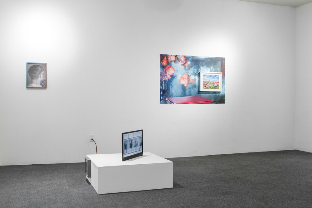 Daniel Terna,  We Buy Gold, Home Movies, and Other Pictures , exhibition view, ICP-Bard MFA Studios, Long Island City, NY