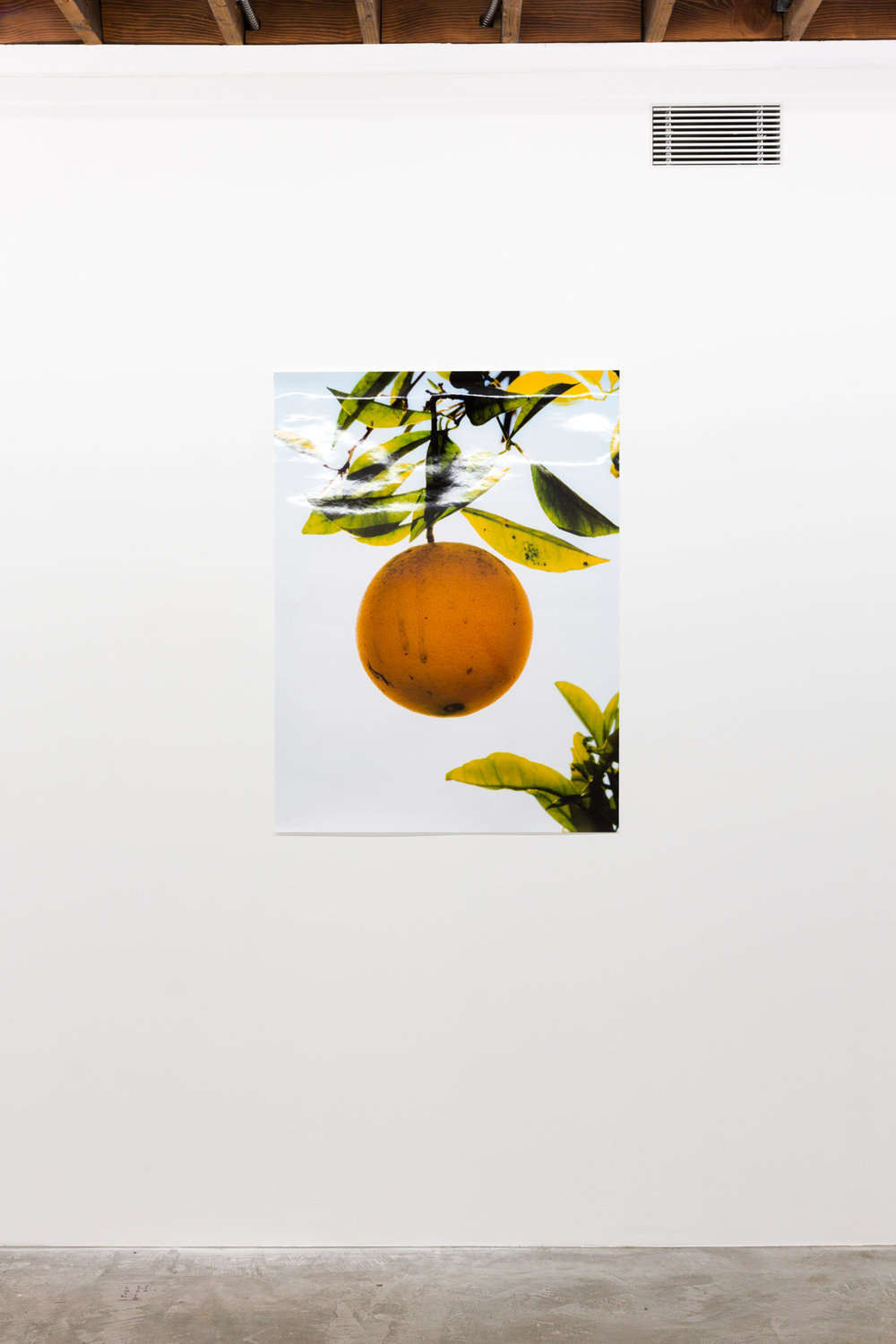 Orange II, December 31, 2017, Huntington Beach, CA , 2018, Chromira print, 40 x 30 inches