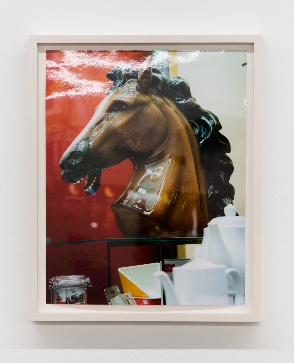 Untitled (Horse Head), Hong Kong , 2016, Chromira print on Glossy Fujicolor Crystal Archive Paper, Unframed: 14 x 11 inches, Framed: 15 7/8 x 12 5/8 x 1 3/8 inches