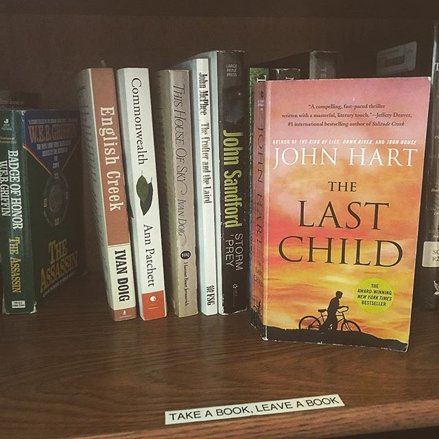 long ways from north carolina and virginia but always cool to see your brothers book on a random shelf in idaho @johnhartauthor