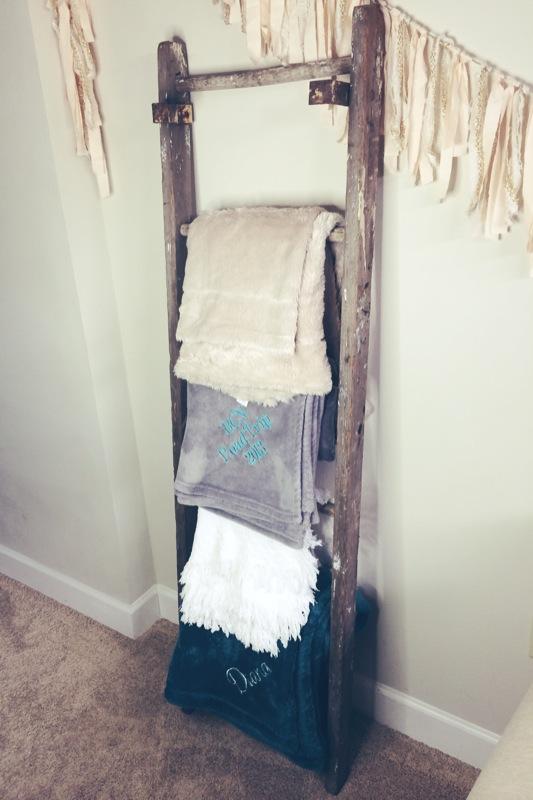 Superior Throw Blanket Storage #2 - Blanket Ladder