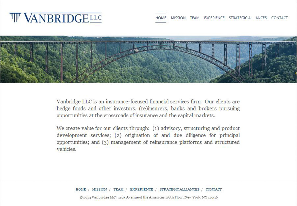 Vanbridge LLC Homepage