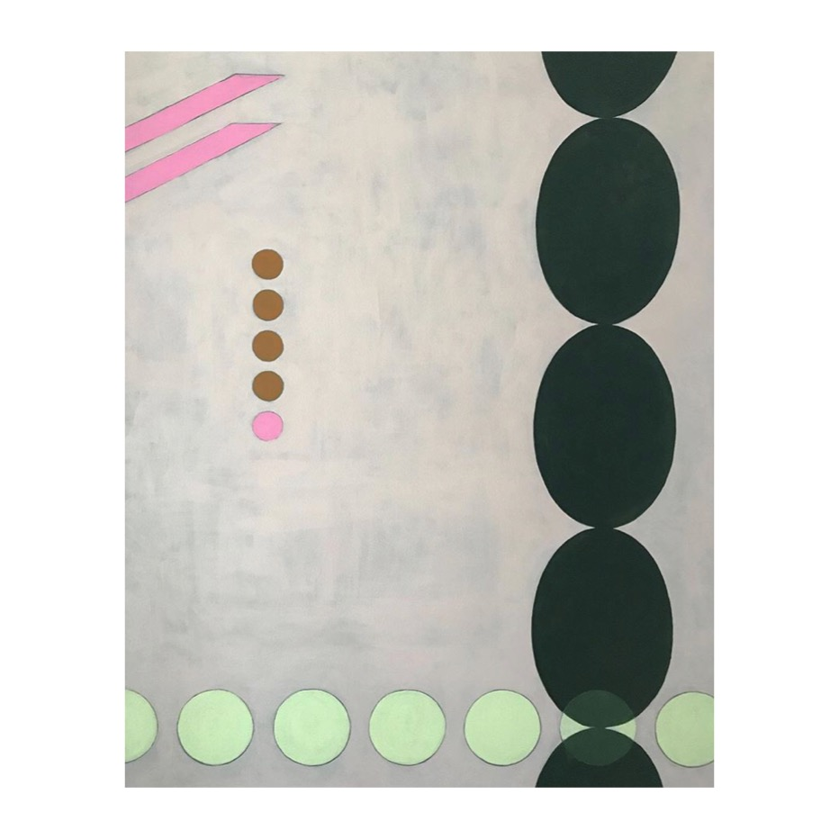 "Green Dot, Pink Dot | 48x60"" | 2017"