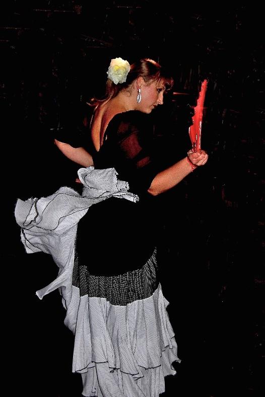 Flamenco dancer. Lodz, Poland.