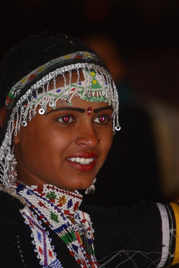 Wild-eyed dancer. Rajastahn, India.