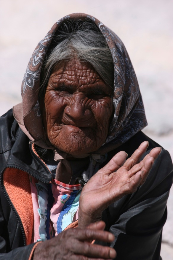 Old woman, India.
