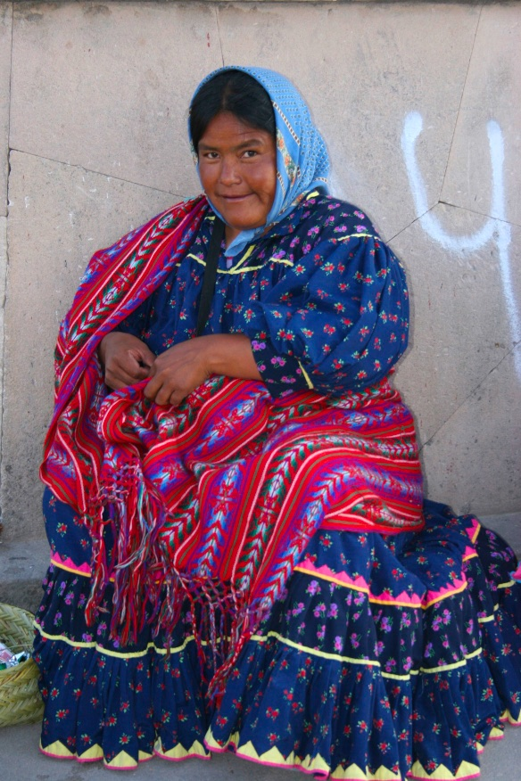 Guatemalan lady in her daily fineries.